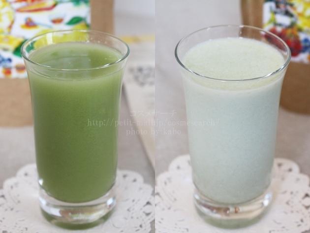 Vegeethie(ベジージー)水と牛乳に溶いた状態
