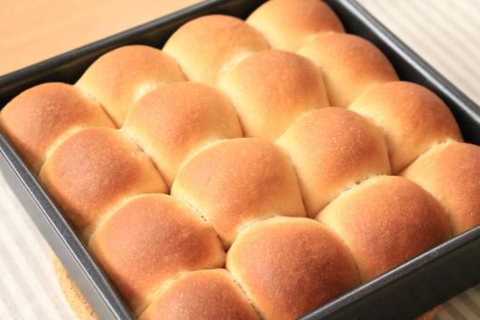 きなこのちぎりパン 焼き上がり