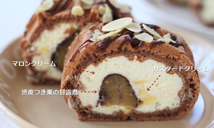 エールエル 渋皮マロンのワッフルケーキ