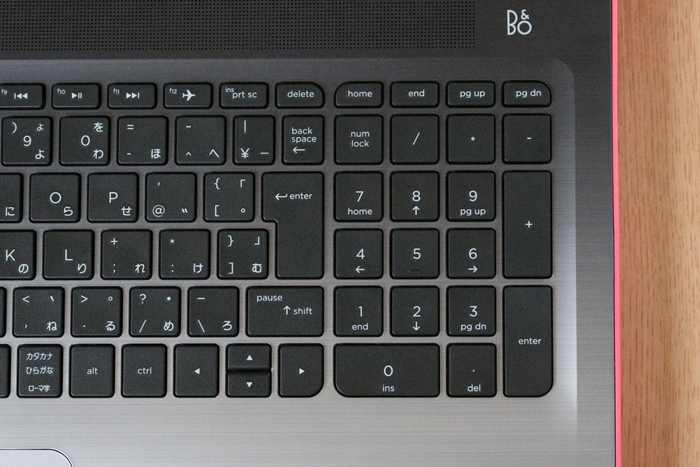 HP 15-ab000 テンキー