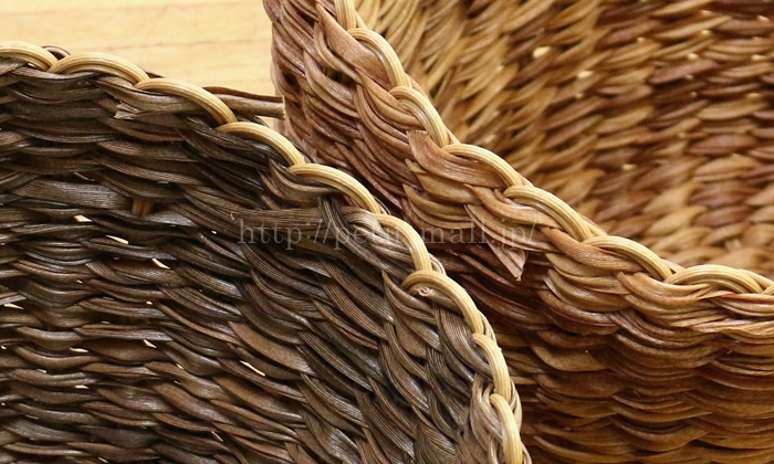 フェリシモ 洗える手編みバスケット