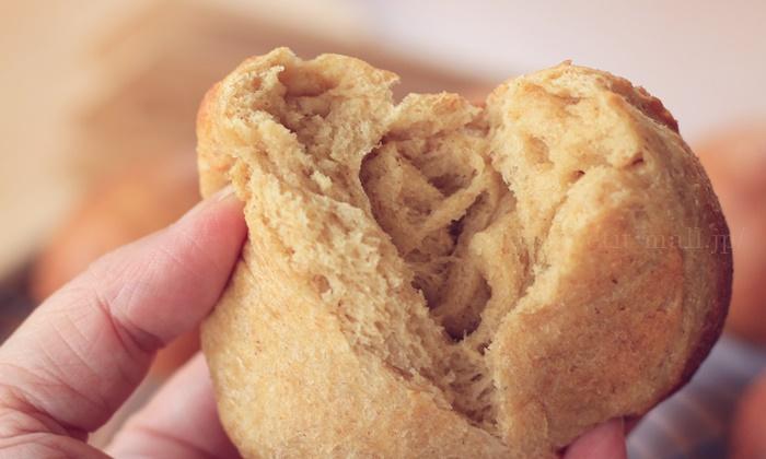 もちもちとした食感の低糖質ブランパン(ふすまパン)