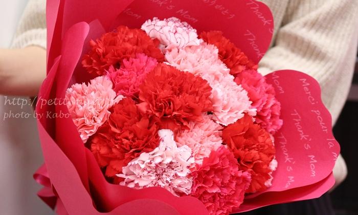 日比谷花壇 母の日カーネーションの形をした花束「ペタロ・カーネーション メルシー」