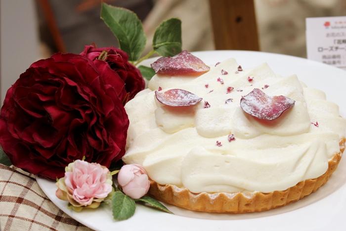 日比谷花壇 お花のスイーツ ローズチーズタルト