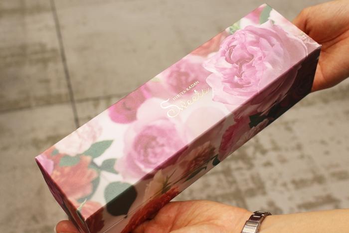 日比谷花壇 花咲くローズマカロンのパッケージ