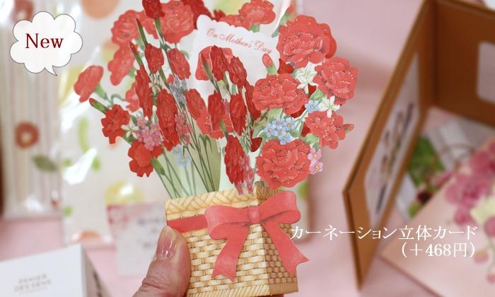日比谷花壇の母の日ギフト メッセージカード