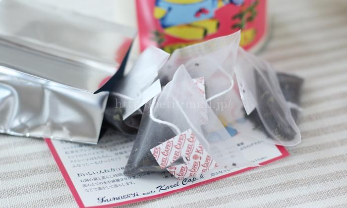 ふなっしー × カレルチャペック紅茶店のコラボ紅茶 FUNATTEA カップ用ティーバッグ