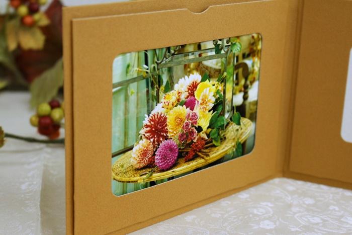 日比谷花壇 敬老の日ギフト 写真立てになるギフトカード
