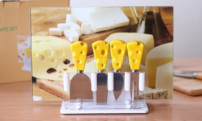 イマジンテーブル チーズ柄 チーズナイフセット