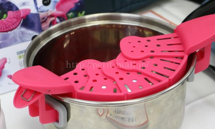 フェリシモ おうちの鍋に装着! ざるのいらない水きりクリップ