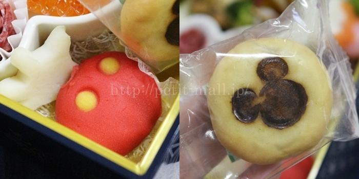 ベルメゾンディズニーおせち 和風プレミアム四段重 ミッキーデザインの和菓子