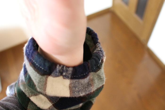 おなかあったかパジャマ 袖口はゴム仕様