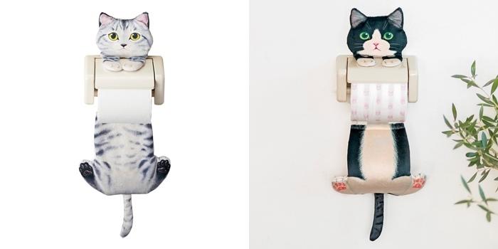 ぶらさがる猫のペーパーストッカー 全部で3種類