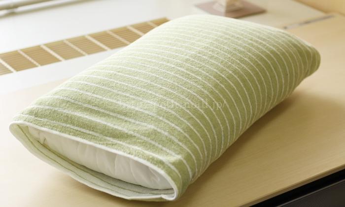 どんな形の枕にもフィットする今治タオルのリバーシブルのびのび枕カバー