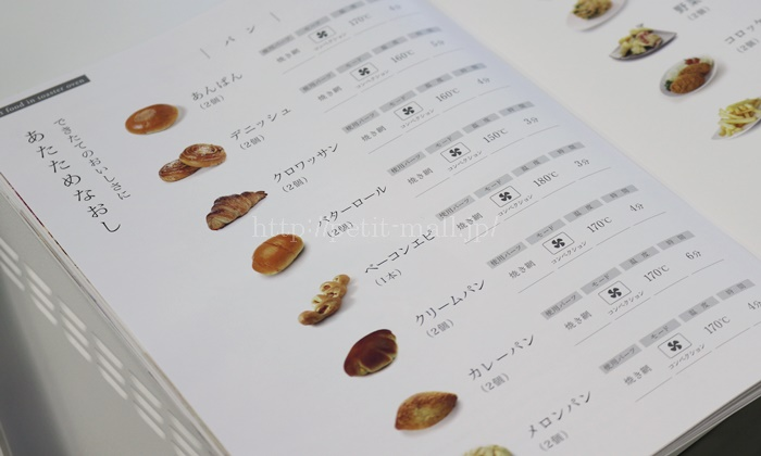 sirocaハイブリッドオーブントースターレシピ本 温め直し時間と温度