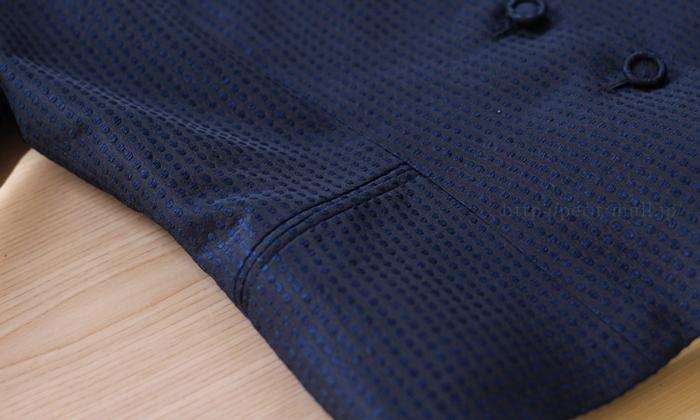 フェラル社 シルクドットジャガードスーツ ポケットは飾り