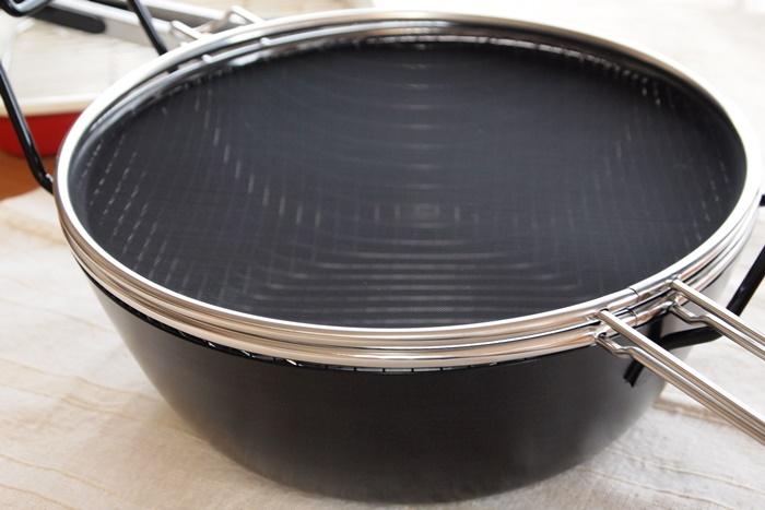 有元葉子 鉄の揚げ鍋(ラバーゼ)28cm