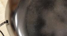 鉄の揚げ鍋 半年後のなべ底の様子