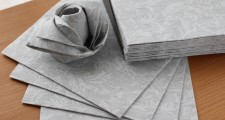 The napkin 布のようなペーパーナプキン