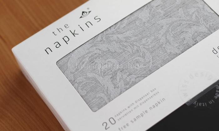 The napkin 布のようなペーパーナプキン プレミアムナプキン フローラルライン
