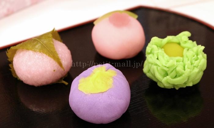 イイハナ 母の日 慶び紡ぎ合わせ箱「菓匠 花菓蔵 上生菓子詰め合わせ」4種類の和菓子