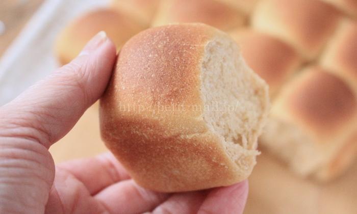 きなこのちぎりパン 一切れの大きさ