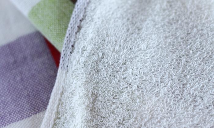 Ag+(銀イオン)で抗菌キッチンタオル 裏面はパイル織