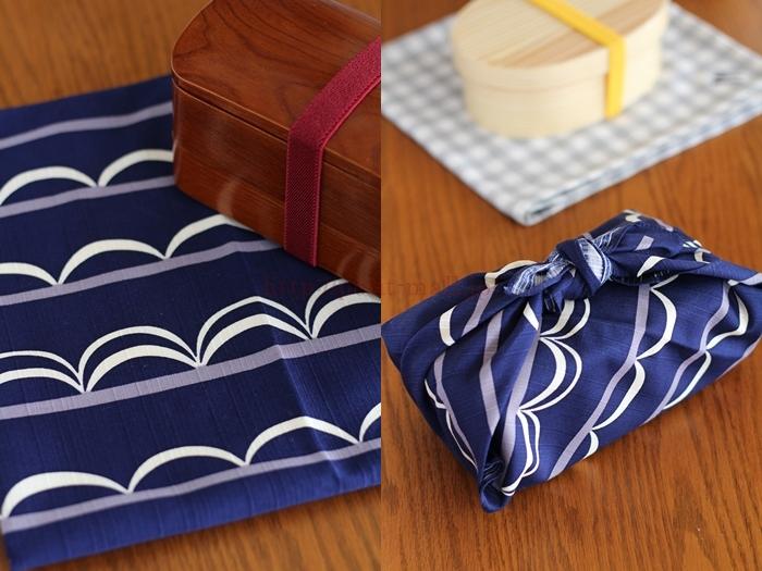 会津塗 木製くりぬきお弁当箱 風呂敷とランチバンドのおまけ付き