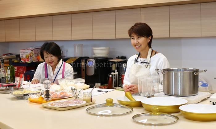 ショップジャパン キッチン用品体験会 尾身奈美恵先生によるお料理教室