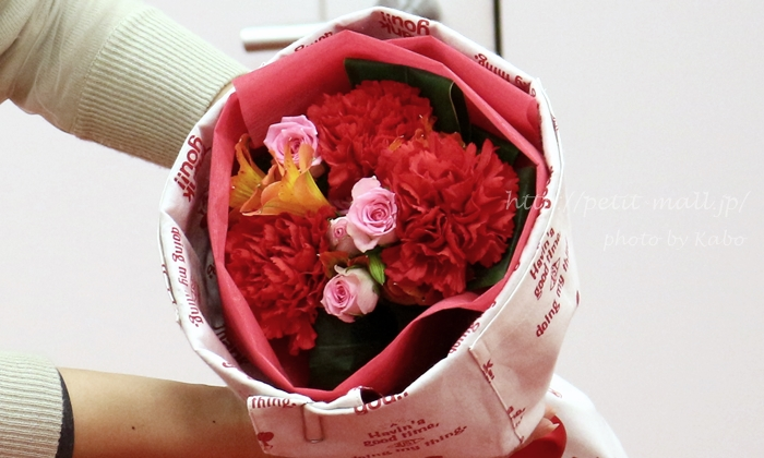 日比谷花壇 母の日エプロンブーケ