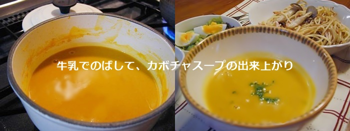 バーミックスで作るカボチャスープ