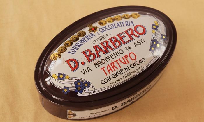 バルベロ トリュフチョコ 楕円茶缶入り