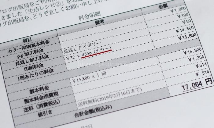 ブログ出版局 料金明細