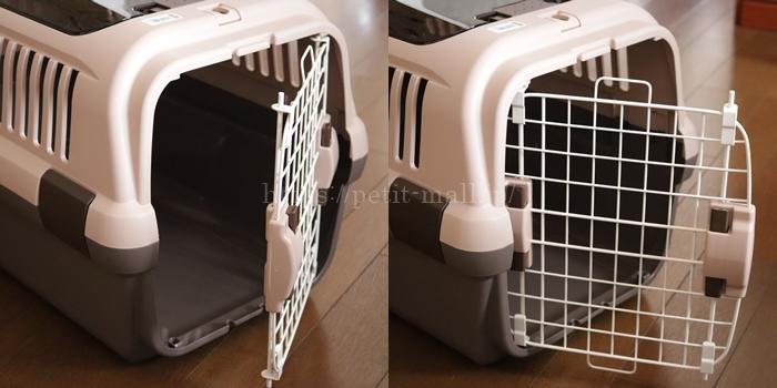 8キロまでOKのネコ用キャリーケース 左右どちらにも開く前扉