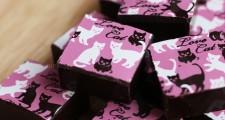 ネコ模様入りチョコレート