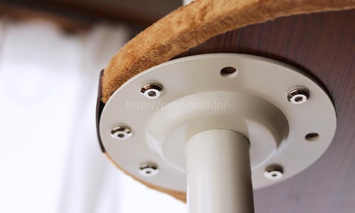 省スペースキャットタワー 棚板の設置方法