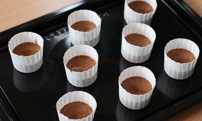 無印良品バレンタイン手作りキット ショコラシフォンケーキ作り方5
