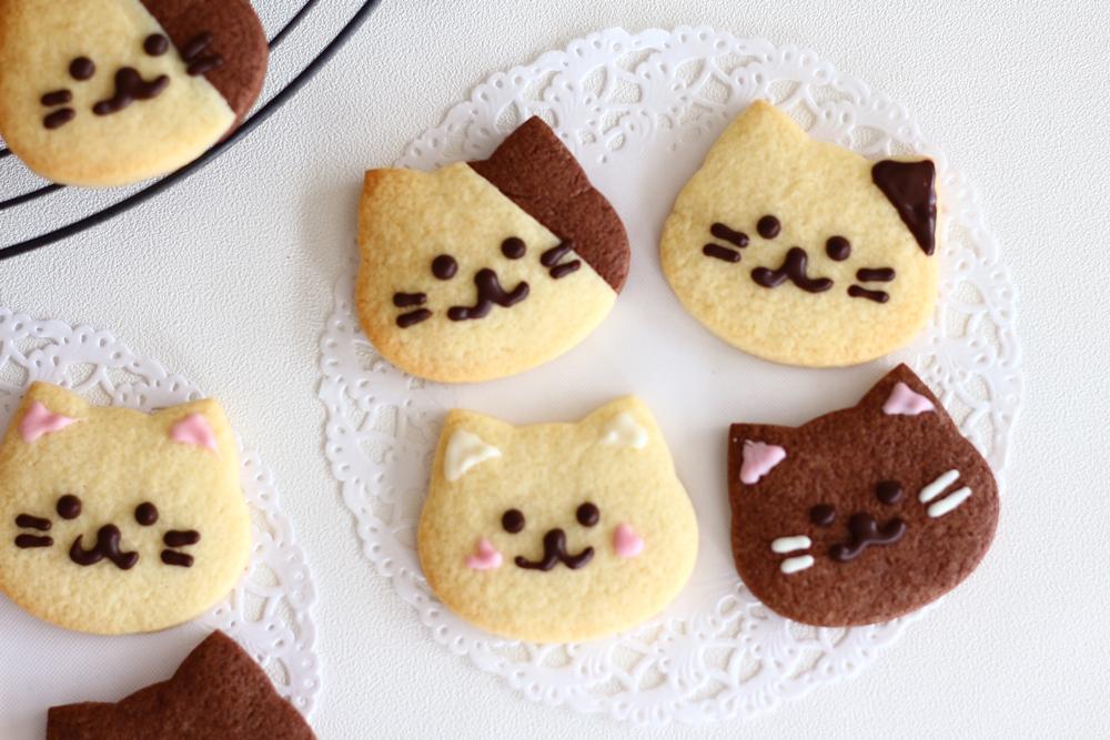 クオカバレンタイン手作りキット ねこのクッキー完成