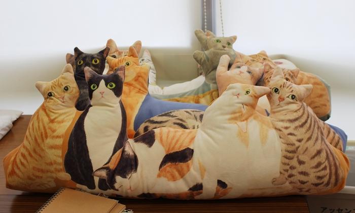 フェリシモ にゃんともぜいたくな 猫まみれハーレムクッションの会