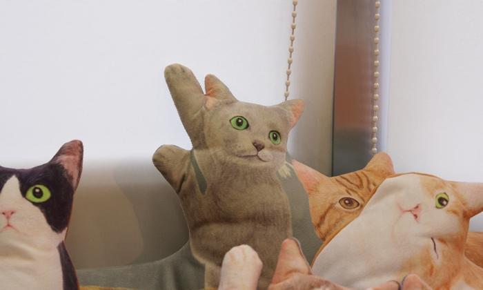 にゃんともぜいたくな 猫まみれハーレムクッションの会(ロシアンブルー)
