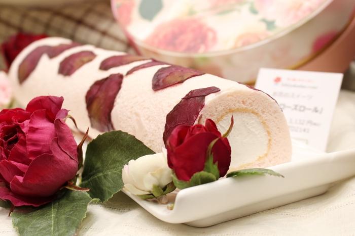 日比谷花壇 お花のスイーツ ロールケーキ
