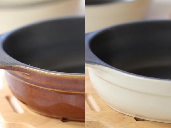 vivノンスティックオーブンウェア アイボリーとブラウン