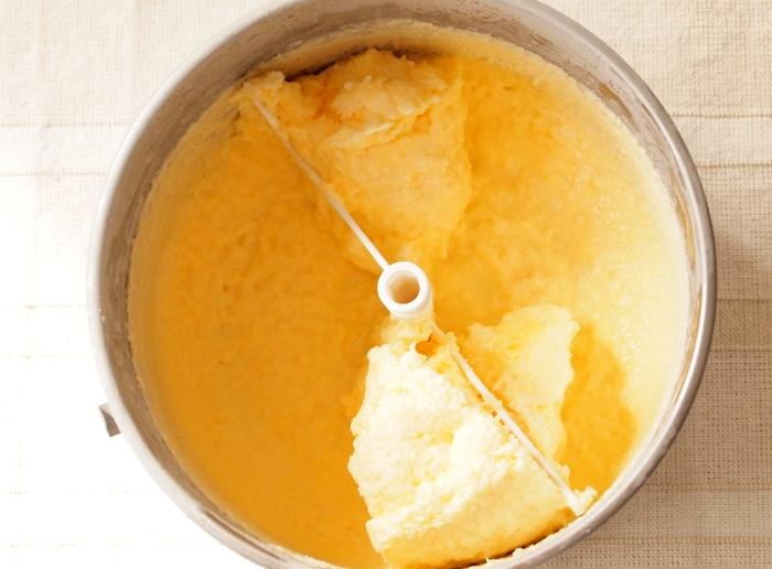 パナソニックアイスクリーマーで作るバニラアイス完成