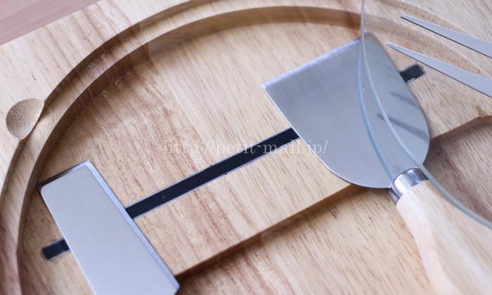 イマジンテーブル ウッディチーズナイフ 4本セット  ケース内に付いたマグネットで固定できます