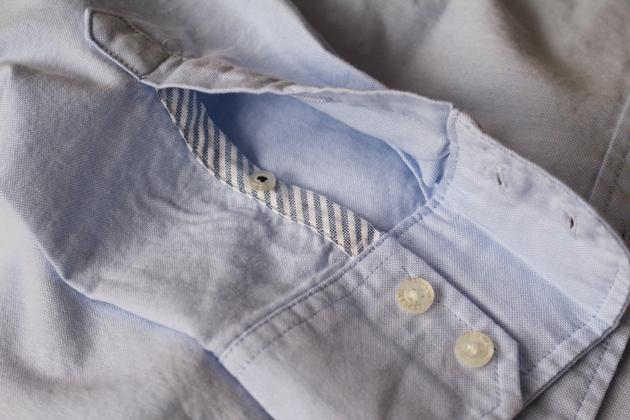ランズエンド 美型シルエット オックスフォードシャツ