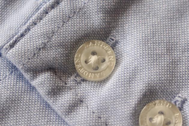 ランズエンド オックスフォードシャツのボタン