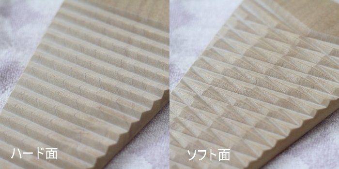 両面使いできる木製ミニ洗濯板