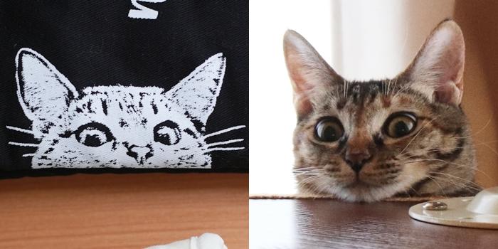 ネコ柄ミトン
