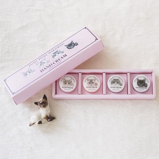 フェリシモ猫部 猫の肉球の香りがするハンドクリームミニサイズ4色セット