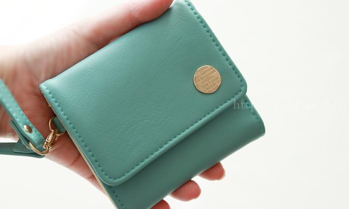 フェリシモ 大人かわいい手のり財布ミントグリーン
